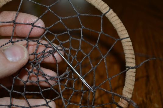 Making a dreamcatcher eden hills for How to tie a dreamcatcher web