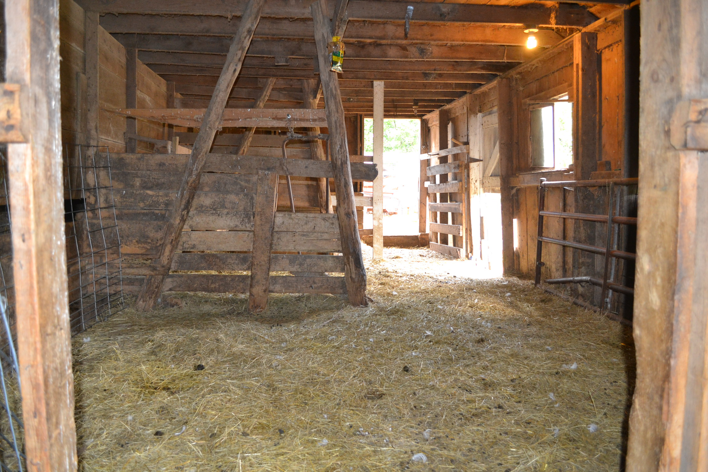 Inside Barn At the fro...