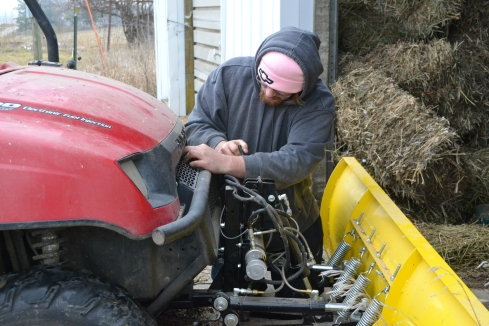 putting plow on Ranger