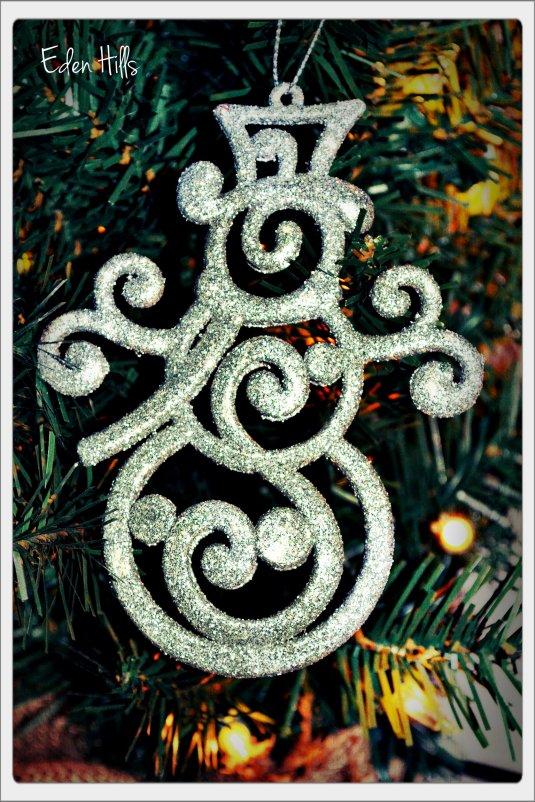 silver snowman ornament