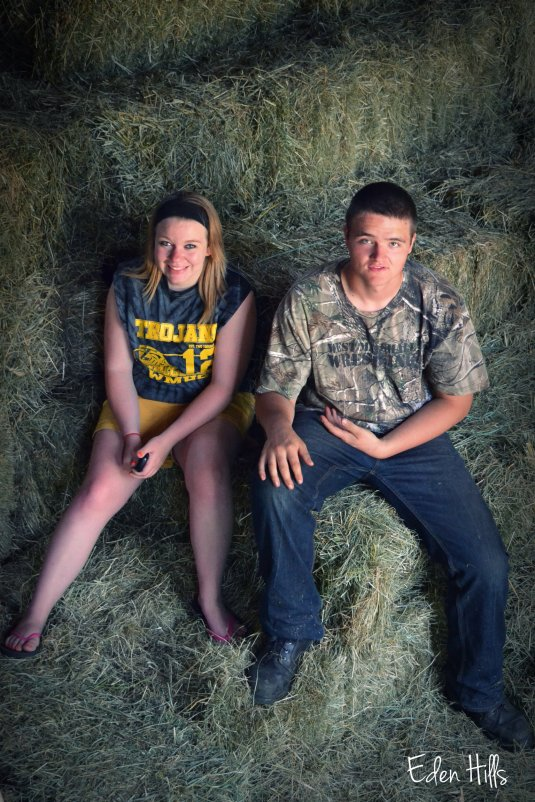 sitting in the hay