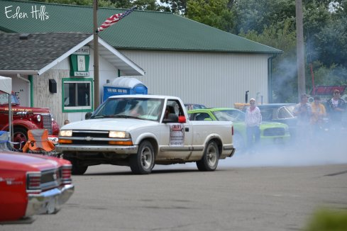 Chevy s-10 burning tires