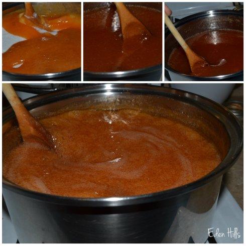 stirring sugar collage w
