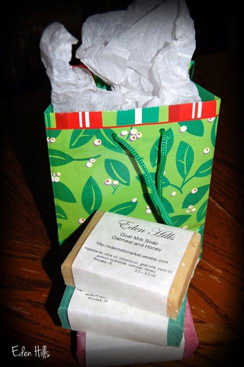 Christmas bag of soap