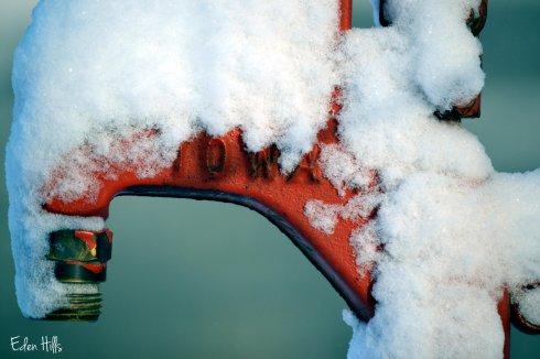 snow on hydrant