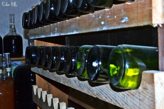 wine on rack