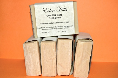 clean linen goats milk soap