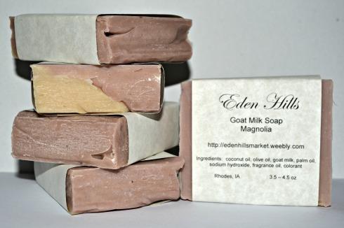magnolia goats milk soap