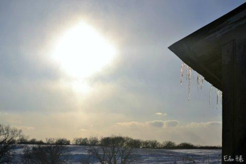 Sun icicles