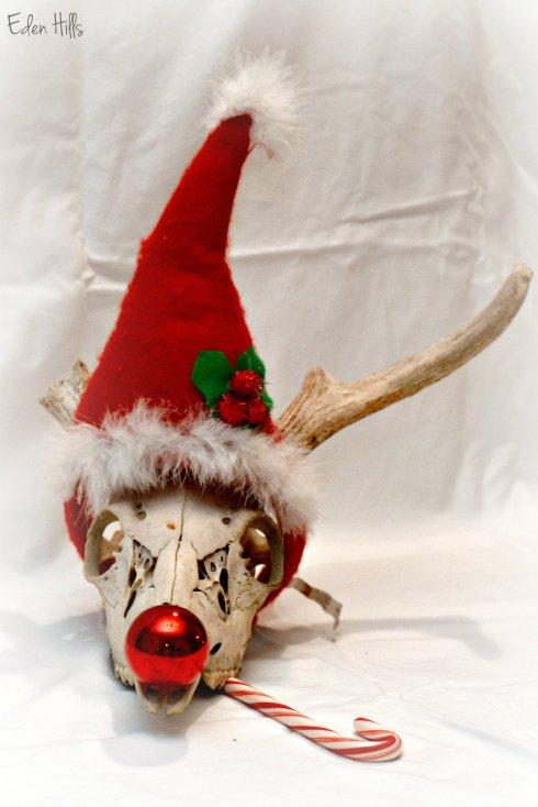 Santa Deer Skull